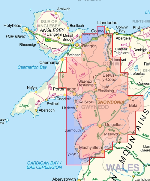 A map of snowdonia national park