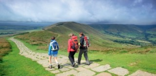 Trail Magazine's Edale - Kinder Round (October) route on the Pennine Way