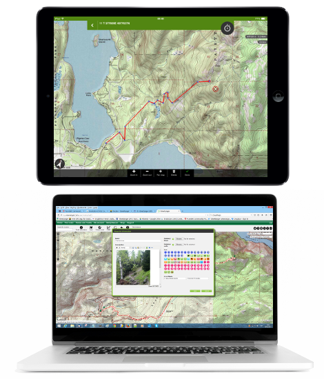 Plot your routes on a PC as well as in-app