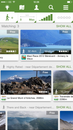 Browse for the best trail guides with the new Discovery Screen in ViewRanger 6