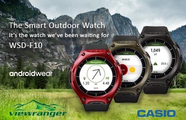 ViewRanger named outdoor navigation partner in the launch of  Casio's Smart Outdoor Watch