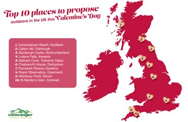 Find the perfect spot to propose with ViewRanger this Valentine's Day