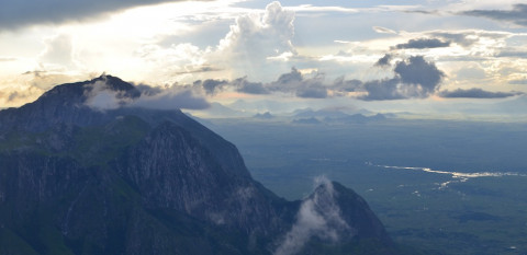 Heading down from Nandalanda Peak with the sunset behind Chambe and the Blantyre hills in the distance.jpg