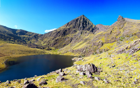 Carrauntoohil sits at 1038m, a great challenge for hikers, Kerry, Ireland