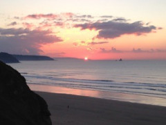 Hiking in Cornwall: Sunset from Perranporth