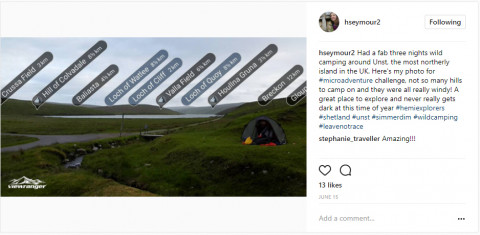 Helen Seymour on the most northerly island in the UK