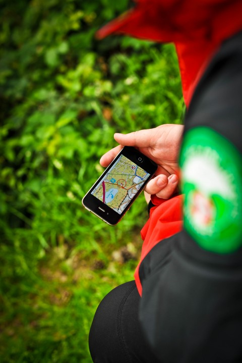 ViewRanger GPS app in use with Surrey Search & Rescue - Photographer Kerry Jordan.jpg