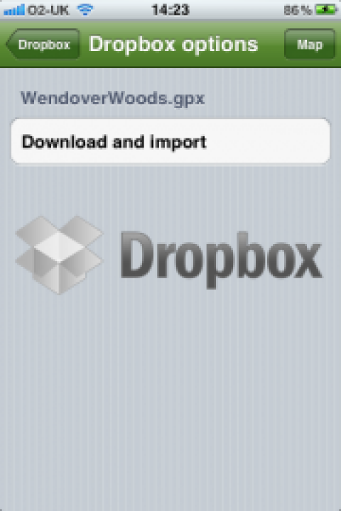 Import and Export GPX files easily into ViewRanger Outdoors GPS app with Dropbox