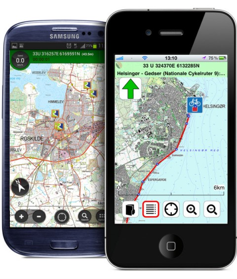 Denmark Topographic Maps on Your iPhone and Android
