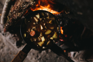 Cooking in a bothy