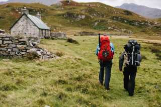 Approaching the bothy