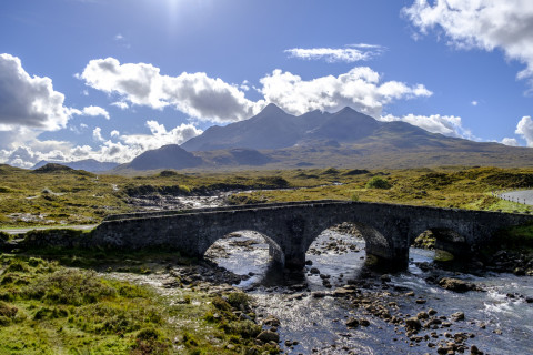 Isle of Skye: River Sligachan, Cuillins in background