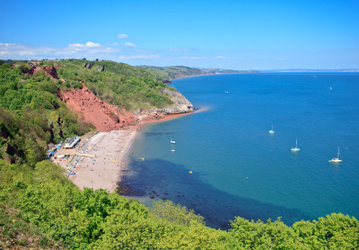 Babbacombe Beach. Discovering Britain routes with Royal Geographical Society and ViewRanger